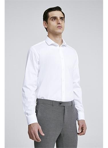 TWN Slim Fit Düz Gömlek Beyaz